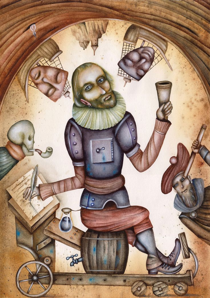 Shakespeare by Eugene Ivanov #cirque #circus #clown #clownery #illustration #eugeneivanov #@eugene_1_ivanov