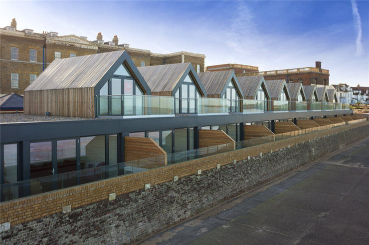 Guy Hollaway Architects have completed a group of beach houses, along the beach in Margate, England