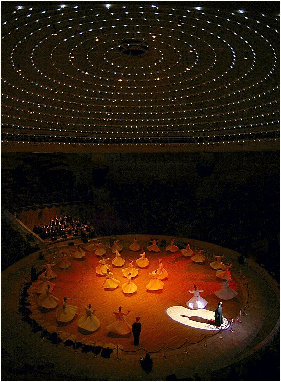 Under the Stars - Konya, Turkish whirling dervishes of Mevlevi.