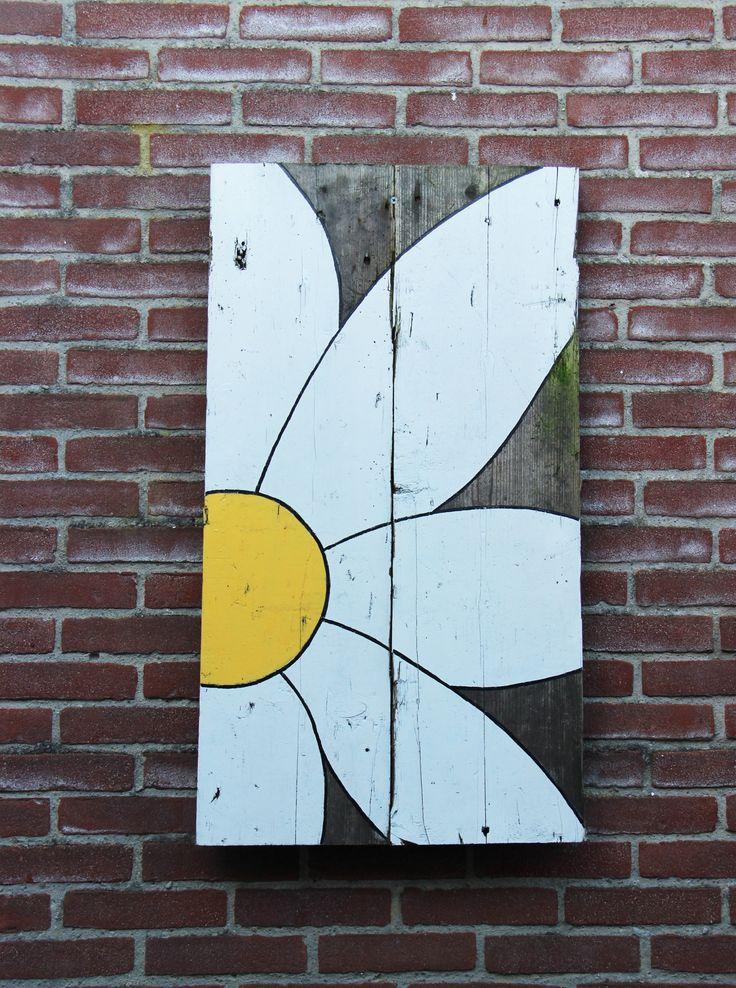 Scrap wood painting - Daisy