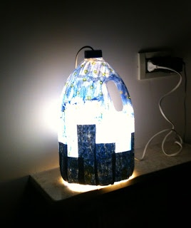 City in the night lamp ...  on