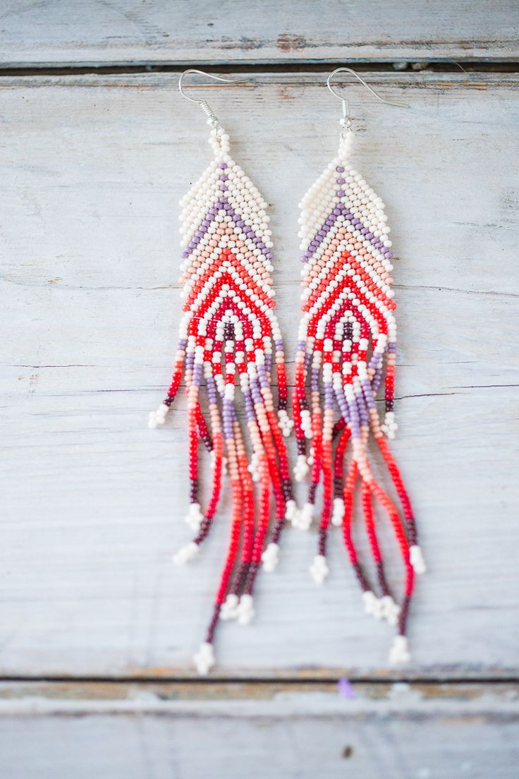 Huichol Hand Beaded Earings