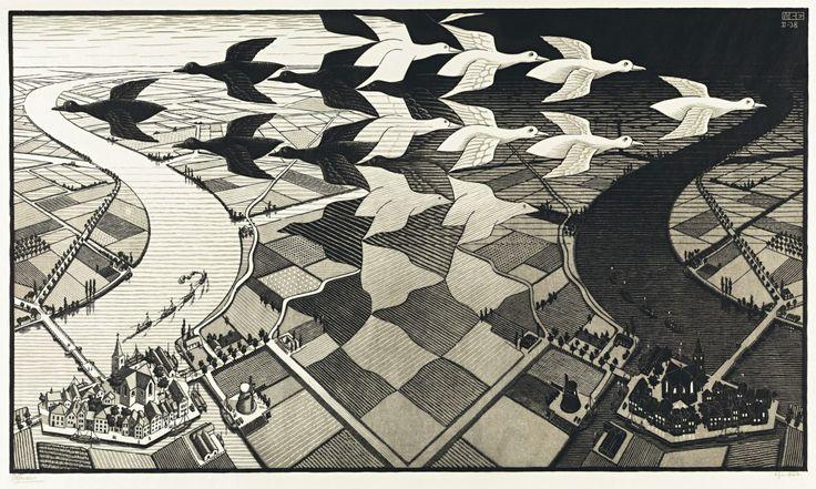 Maurits Cornelis Escher:construcciones imposibles