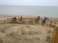 2017 -  Pinery Provincial Park has installed accessible boardwalks at the beach and has beach wheelchairs available to borrow.