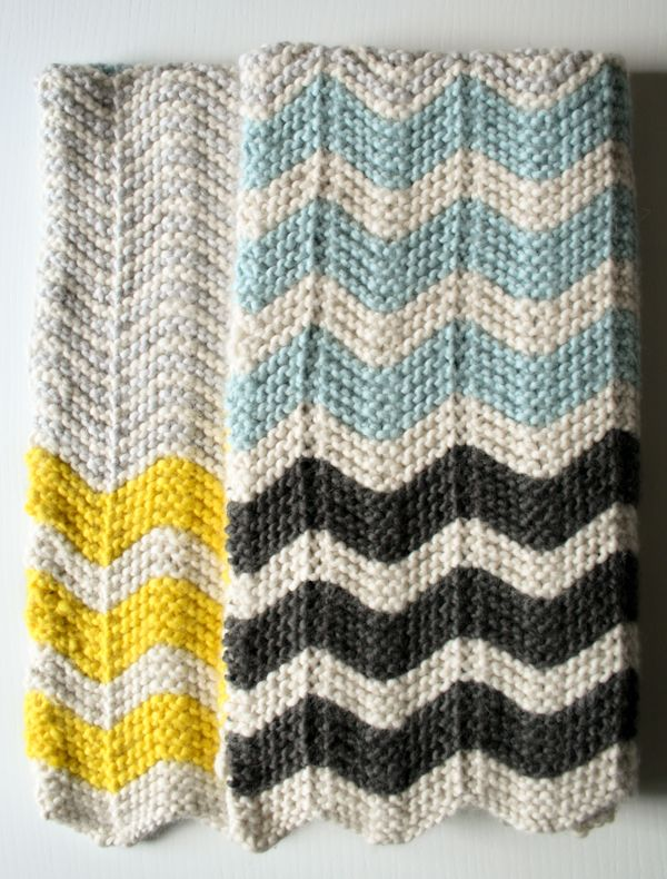 knitted chevron blanket- the purl bee