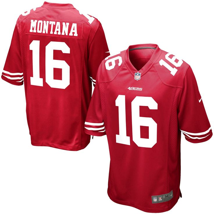 Joe Montana San Francisco 49ers Nike Retired Player Game Jersey – Scarlet - $99.99