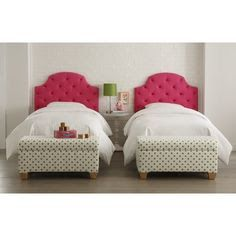 Skyline Furniture Tufted Headboard In Hot Pink