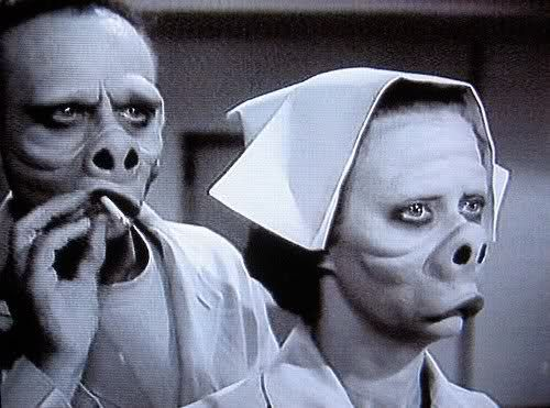 Every time I see an episode of the Twilight Zone, I have to check if it's the pig face one. It never is.
