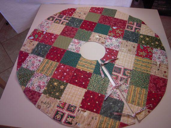 Handmade Christmas Tree Skirt Measures 40 In By DesignsbyMissIvy 4500