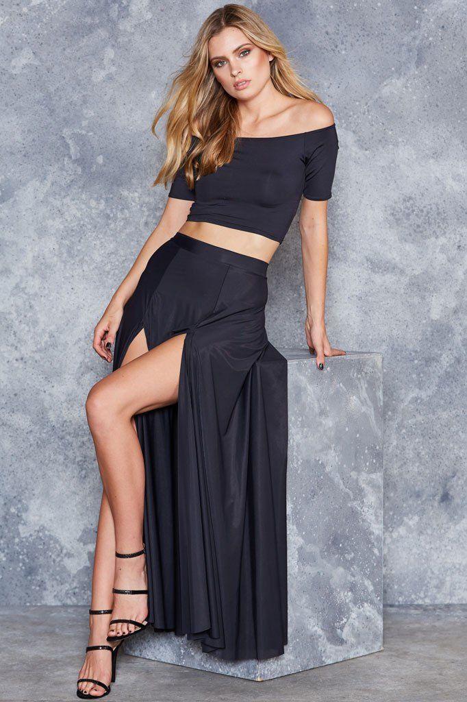 Sheer Split Skirt