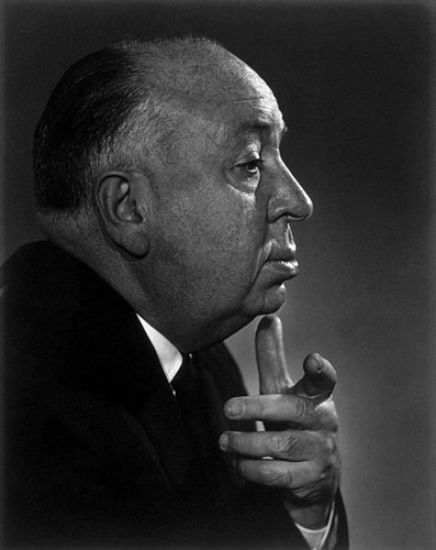 Alfred Hitchcock by Yousuf Karsh.  Alfred Hitchcock (I) (1899–1980)  Born: Alfred Joseph Hitchcock  August 13, 1899 in Leytonstone, London, England, UK