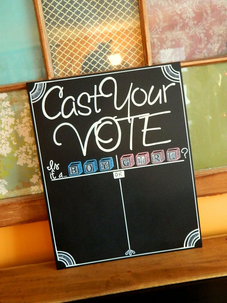 Hand Painted Baby Shower Chalkboard Cast Your Vote by ArtByGillian, $40.00