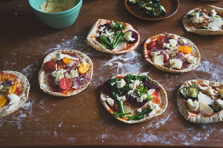 Pita Pizza featured in Lunch Lady Issue Two. Lunch Lady Magazine available at http://shop.hellolunchlady.com.au/