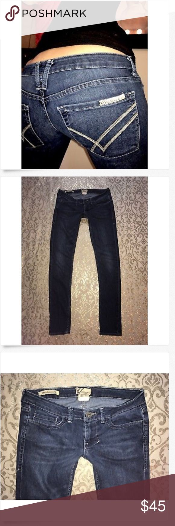 William Rast Low Rise JERRI Ultra SKINNY Leg Jeans William Rast Low Rise JERRI Ultra SKINNY Leg Jeans! Great Used! 27 x 32 75%% cotton & 25% polyester  15.5 across & 6 rise William Rast Jeans Skinny