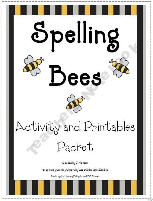 Spelling Bees Activities and Printables.  This could be a cute activity for Day Camp.  Just use words from the lesson.