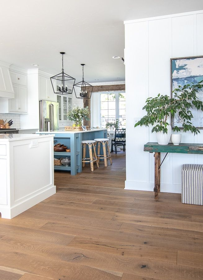 White Kitchen And Bar Stool Update In 2020 Lake House Kitchen