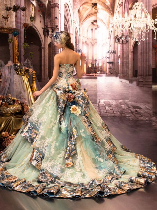 This dress is a work of art dresses pinterest for Fairytale ball gown wedding dresses