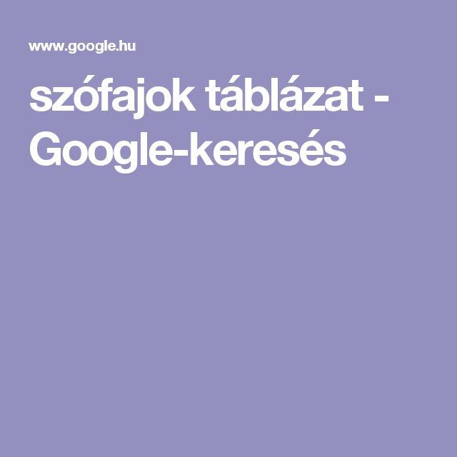 szófajok táblázat - Google-keresés