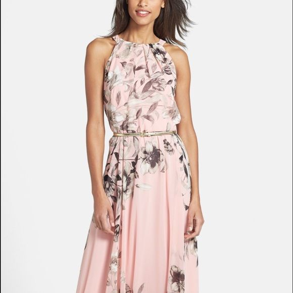 Eliza J Floral Maxi Dress 12P Worn once for a beach wedding in October. Got so many compliments! Dress has just been dry cleaned and ready for a new owner! Still available on Nordstrom website for $158, check there for size description. Eliza J Dresses Maxi