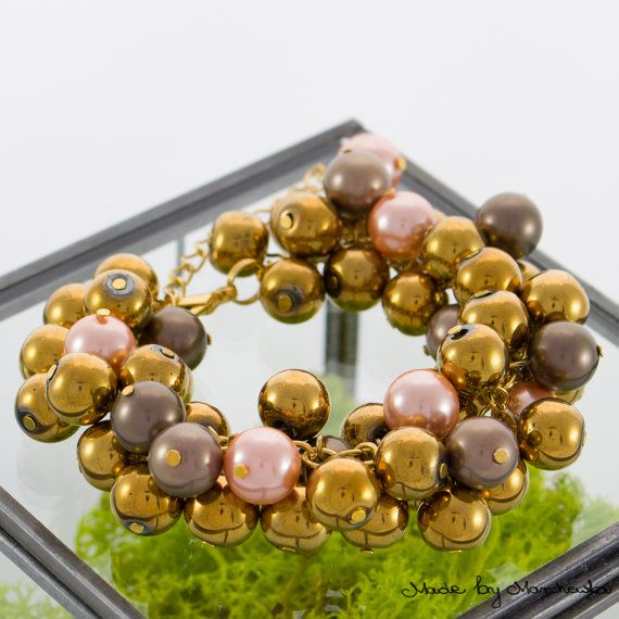 Beautiful bracelet made with golden hematite by MadeByMarchewka