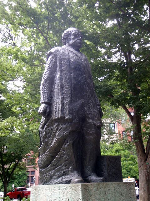 Domingo Faustino Sarmiento en Boston.