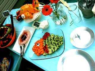 17 best images about twin gender reveal party on pinterest for Fish themed party food
