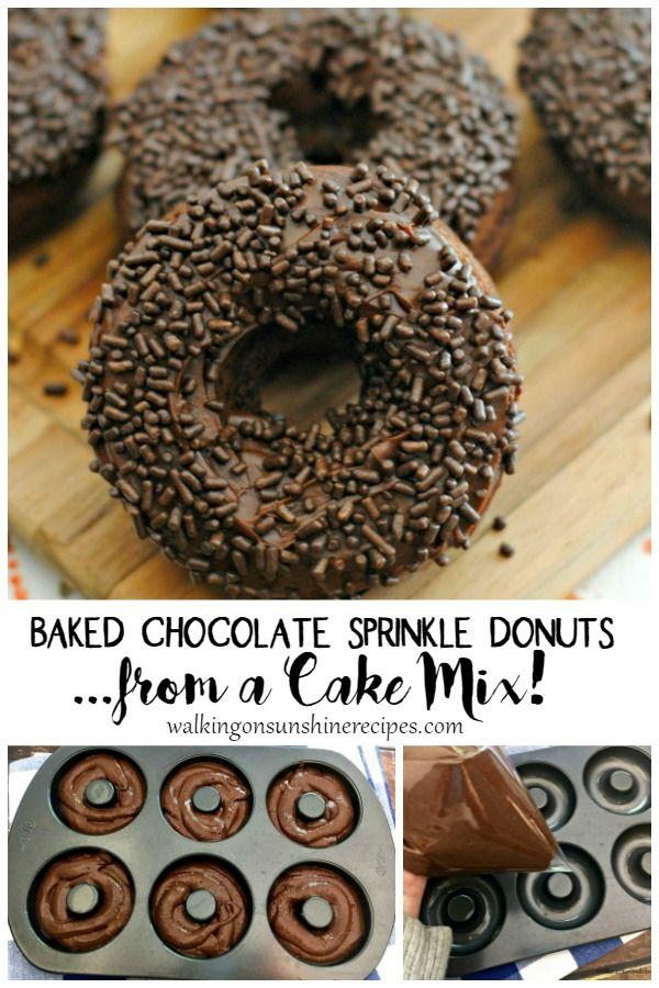 Baked Chocolate Cake Donut Recipe