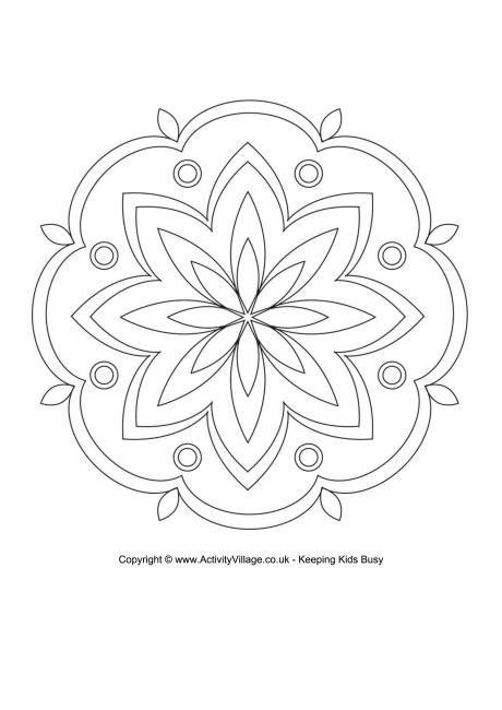 Rangoli colouring page 4