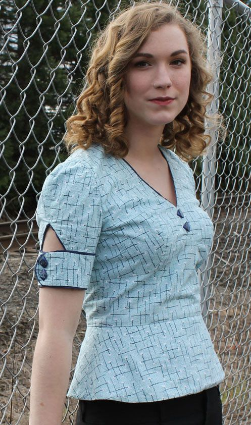 Vintage Sewing Pattern Sew Chic LN1313 Ehlen Blouse