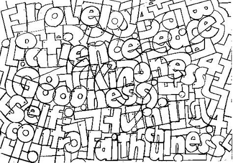 fruit of the spirit coloring page Colouring pages