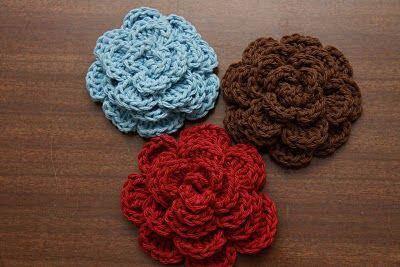2 Crazy 4 Crafting: Crochet Hair Accessories: Hair Flowers, Crochet Rose, Hairs, Flowers Hair, Crochet Geek, Crochet Hair Accessories, Crochet Flowers Tutorials, Big Flowers, Crochet Flowers Patterns