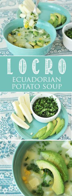 Locro, Ecuadorian Potato Soup. Perfect for those chilly days. Potatoes, cilantro, avocado, mozzarella cheese, a delicious combination!  www.thekusilife.com