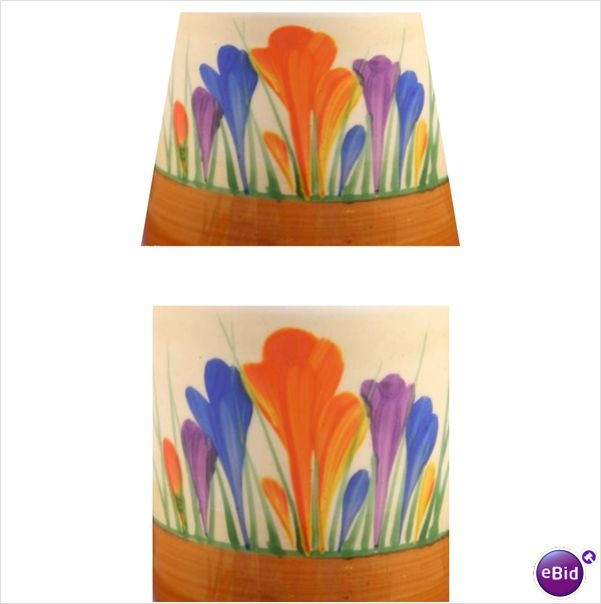 Clarice cliff crocus tile