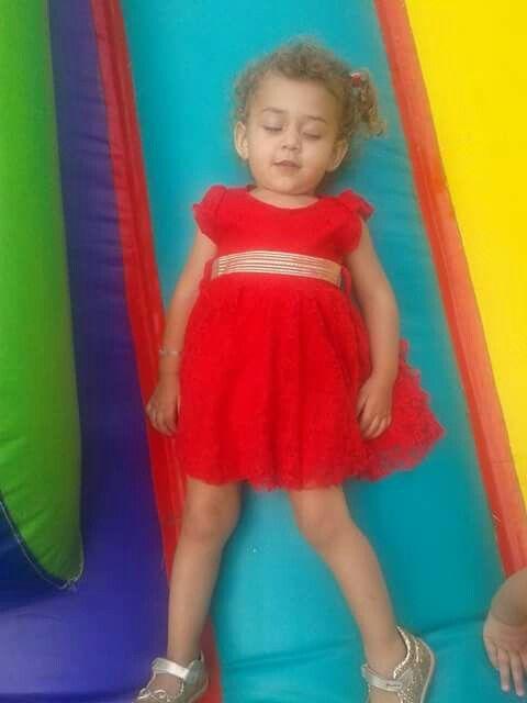 Vestido de encaje rojo!