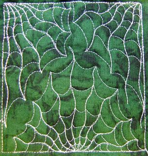 The Free Motion Quilting Project: Day 224 - Cobwebs in the Corners