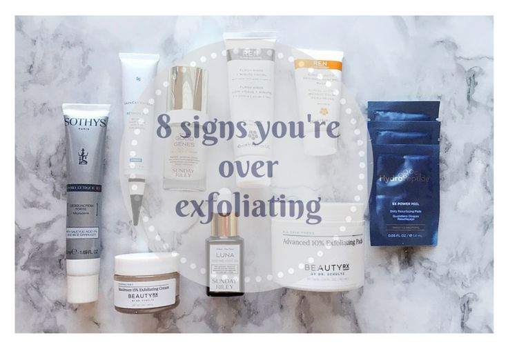8 Signs You're Over Exfoliating | Most women don't know when to put down their scrub, retire the Clarisonic, or toss the acid. Exfoliating is a crucial beauty regimen step, but what happens if you overdo it? Not enough and your products can't penetrate rough, dull skin. Too much and you could be dealing with uncomfortable, unhappy skin. Finding a delicate balance between over exfoliating and getting just the right amount is unique to your skin.