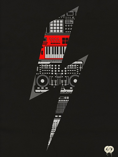 Electro Music  http://beta.threadless.com/ampitup/electro-music-3/