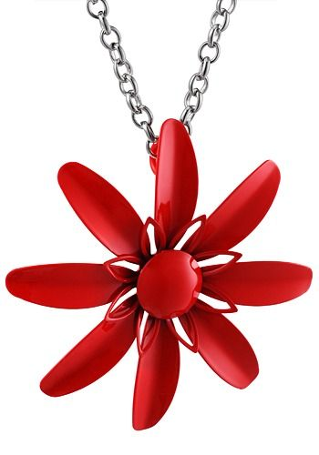 Baginc Red Spring Flower Pendant
