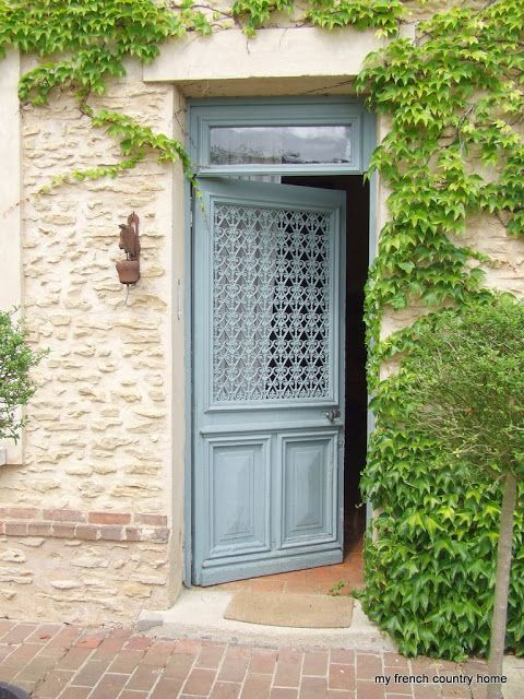 Light Chalky Blue French Country Door. : counrty door - pezcame.com