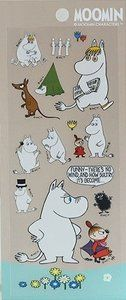 Moomin Characters Clear Seal Sticker | Brown: http://www.stationeryheaven.nl/Moomin