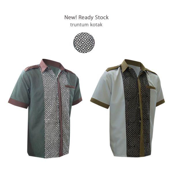 New Ready Stock bisa langsung kirim Youngster :) Warrior Series - Truntum Kotak Osman & Avicena #kemejabatikmedogh http://medogh.com/baju-batik-pria/kemeja-batik-pria