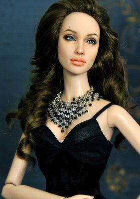 Angelina Jolie must be the most popular star to make - here is another one by Noel Cruz.
