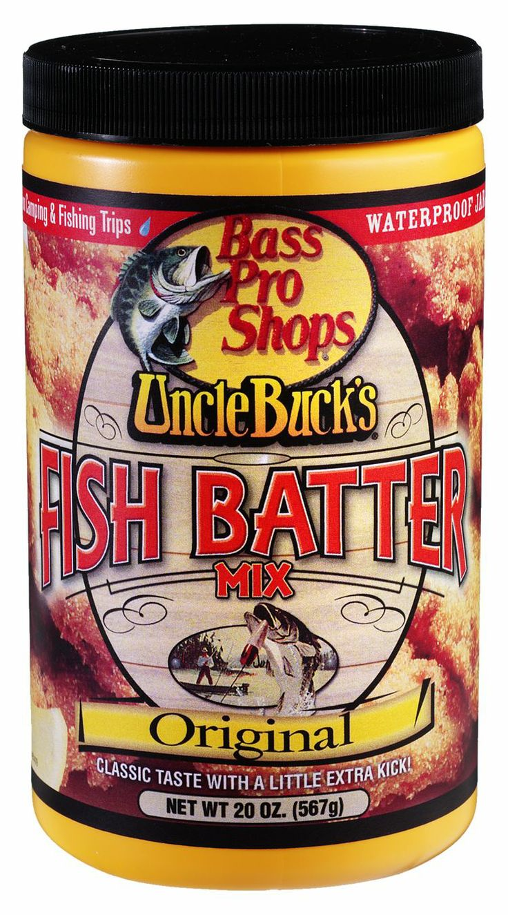 "Uncle Buck's® Fish Batter Mix - Original | Bass Pro Shops // Customer SDFamily says: ""This is great stuff. My entire family loves it and really no other fish batter compares in our eyes. We will continue to order and cook our fresh fish with this stuff."" We couldn't agree more, it's the best! #fishbatter #unclebucks #camping #fishfry #fishing"