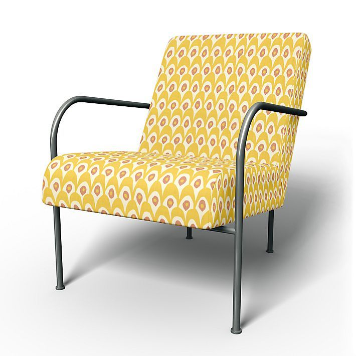 Ikea PS , Armchair Covers, Armchair, Regular Fit using the fabric Circus  White/Yellow