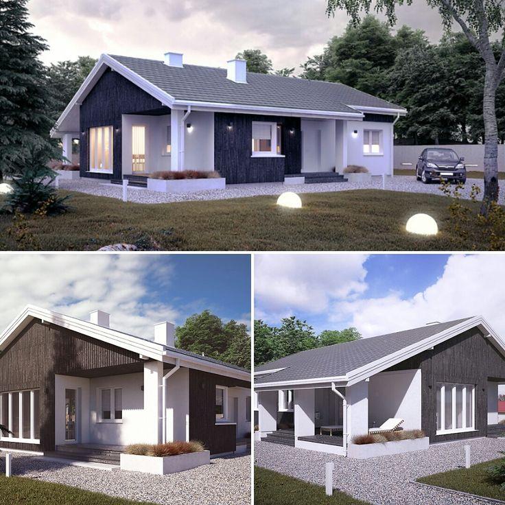 Projekt domu MALMO (108 m2). Pełna prezentacja projektu dostępna jest na stronie: https://www.domywstylu.pl/projekt-domu-malmo.php #malmo #domywstylu #mtmstyl #projekty #projektygotowe #dom #domy #projekt #budowadomu #budujemydom #design #newdesign #home #houses #architektura #architecture