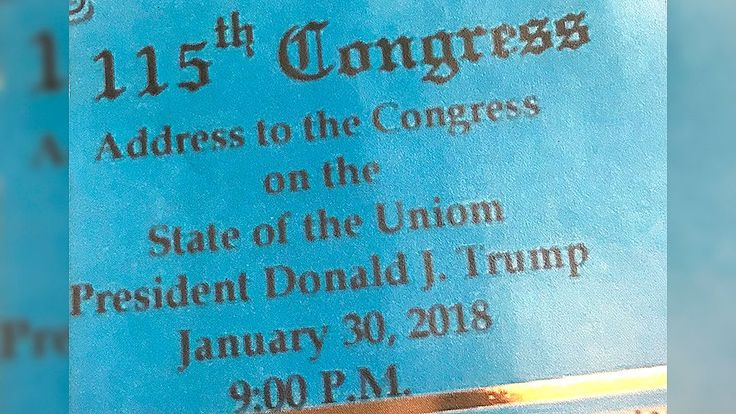 FOX NEWS: State of the Union tickets printed with typo have to be reissued