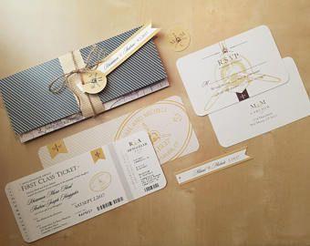 Aviation, Airplane, Travel Themed Wedding Invitation -    Edit Listing  - Etsy