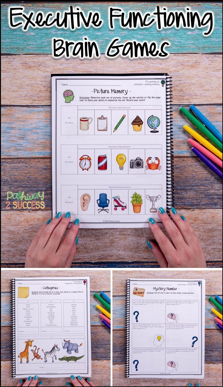 Use Executive Functioning Brain Games To Practice Critical Skills With Kids And Young Executive Functioning Skills Brain Games For Adults Executive Functioning
