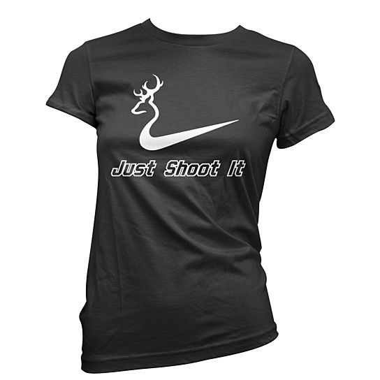 (99+) Womens Just Shoot It t-shirt Hunting tee deer shirt Nike tshirt from Guerrilla Tees
