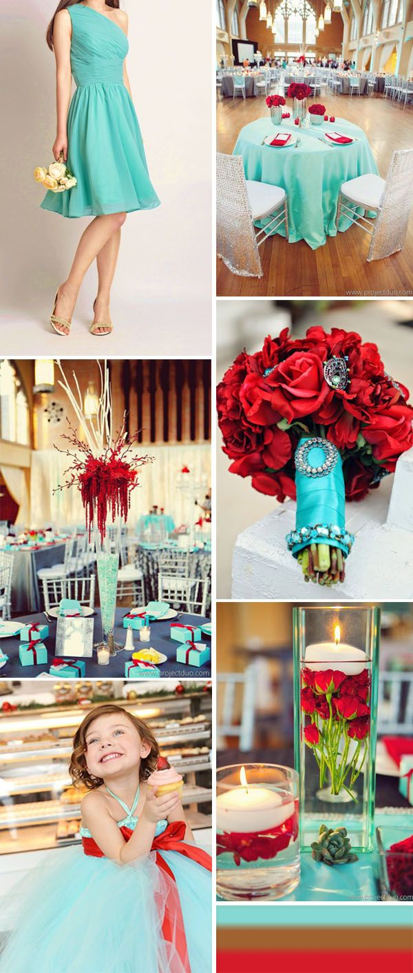 tiffany blue and red country wedding ideas and tiffany blue bridesmaid dresses